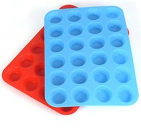 Wholesale 24 cupcakes for sale - Group buy New Home Mini Muffin Cup Cavity Silicone Soap Cookies Cupcake Bakeware Pan Tray Mould Home DIY Cake Mold