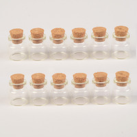 Wholesale 25 mm pendants for sale - Group buy 4ml Cute Messages Wishing Glass Vials Charms Pendants Clear Transparent Small Glass Bottles With Cork mm