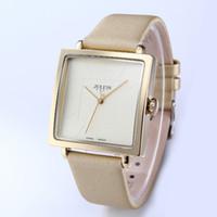 юлиус часовая леди оптовых-Women Watches  Julius Square Quartz Lady Watches  Genuine Leather Dress Waterproof Wrist watch Feminino Montre JA-354