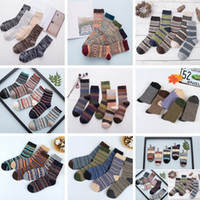 Wholesale thick cotton socks men - Wool Socks New Style Women Men Winter Thermal Warm Socks Fashion Colorful Thick Socks Ladies Girls Retro Rabbit Wool Casual Sock BAB59
