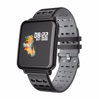 лучшие часы mp4 оптовых-Оригинальные T2 Smart Watch Большой Экран Монитор Сердечного ритма Артериального Давления Кислорода в крови SPO2 Multi Sport Mode IP67 Плавание SmartWatch Мужчины