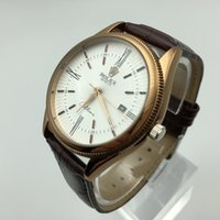 Wholesale business casual hombre - relojes hombre 2017 Top Luxury Brand Leather strap Date Display Men's Quartz Watch Casual Business Watches Men Wristwatches relogio