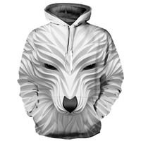Wholesale animal fox hoodie for sale - Mr INC Carving Animals Hoodies Men Women Brand Hoodies Digital Print Fox Thin d Sweatshirts Hoody Tracksuits Tops YXQL561
