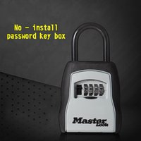 Wholesale Locks For Safe Box - Lock Box Portable Safe 4-Digit password Combination for Indoor Outdoor Hold 6 Keys Weatherproof Security Key Storage Lock BoxLarge Space