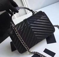 çanta çanta debriyaj çantaları toptan satış-Lüks Klasik Tasarımcı Çanta Yüksek Kalite Kadınlar Omuz çanta renkler feminina debriyaj tote çanta Messenger Çanta çanta Alışveriş Tote