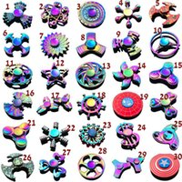 Wholesale toy metal stars - rainbow Metal fidget spinner star flower skull dragon wing Hand Spinner for Autism ADHD Kids adults antistres Toy EDC Fidget Toy