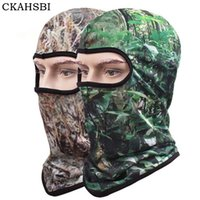 Wholesale uv face caps - Wholesale- CKAHSBI 2017 Summer Cycling Full Face Masks Neck UV Digital Printing A Bike Mask camouflage Forest green Men Women Bicycle Sport