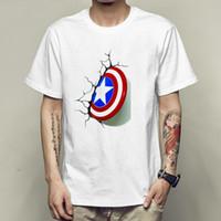 Wholesale super hero shirts - Shield break the wall t shirt Captain America short sleeve gown Super hero tees Unisex clothing Quality modal Tshirt