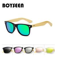 BOYSEEN Vraies lunettes de soleil en bambou hommes polarisés femmes lunettes  de soleil noires mâles lunettes de soleil lunettes de pilote lunettes en  bois ... 7823b89fa1aa