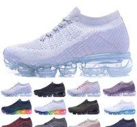 Wholesale Wholesale White Sneakers - Hot Sale Vapormax Running Shoes Men Women Classic Outdoor Run Shoes Vapor Sport Shock Jogging Walking Hiking Sports Athletic Sneakers