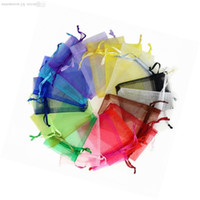 Wholesale 500pcs Jewelry Bags MIXED Organza Jewelry Wedding Party Xmas Gift packing Bags With Drawstring x12cm