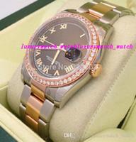 ss наручные часы оптовых-Горячие продажи роскошные часы новые дамы 18K розовое золото SS Алмаз безель 116201 смотреть женские часы Наручные часы