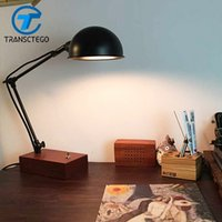 Wholesale Vintage Black Table Lamp - industrial retro Desk Lamp Desklight flexible simple style Table Lamp Vintage Desklight