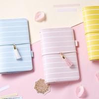 blaues notebook mini großhandel-Lovedoki 2017 Presell Reise Journal Notebook Tagebuch blau rosa gelb binden Dokibook