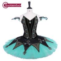 erwachsene schwan kostüm großhandel-Erwachsener schwarzer Ballett-Ballettröckchen-Schwanensee-Leistungs-Stadiums-Abnutzungs-Frauen-Grün-Ballett-Tanz-Wettbewerb kostümiert Mädchen-Ballett-Rock Apperal