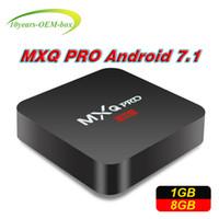 android smart tv v3 großhandel-1 STÜCKE RK3229 MXQ PRO 4K Android Smart-Boxen Ultimative HD-Android-Smart-TV-Box Quad-Core 1g 8g 2.0 GHz Hardware IPTV-Box M9S V3 V5 K3 X9 4K
