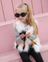 ingrosso vestiti di bambino europee-Europa e America moda ragazza vestiti autunno inverno Faux Fur Vest bambini tutto-fiammifero Baby Girl Plush Vest