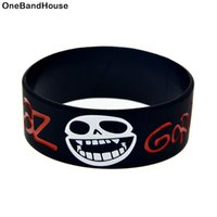 Wholesale alternative gifts - Wholesale 50PCS Lot Gorillaz Alternative Pop Band Silicone Wristband 1 Inch Wide For Music Fans Concert Gift