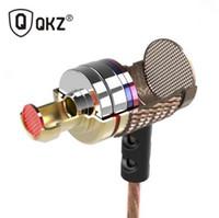 bas bakır toptan satış-QKZ DM6 Kulaklık Meraklısı bas Kulak Kulaklık Bakır Dövme 7 MM Şok Anti-gürültü Mikrofon Ses Kalitesi fone de ouvido