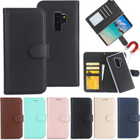 Wholesale galaxy gold wallet resale online - Magnetic Wallet Case for iPhone XS MAX XR Galaxy S10E S10 PLUS Flip Cover in Removable Leather Case with Card Slot for Samsung S9 S8