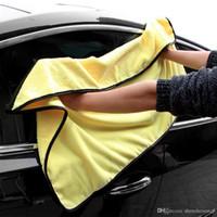 araba detay yıkama toptan satış-Süper Emici Araba Yıkama el havlusu Mikrofiber Havlu Araba Temizleme Kurutma Bezi Büyük Boy 92 * 56 cm Hemming Araba Bakım Bezi Detaylandırma Havlu