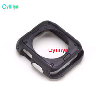 parachoques negro manzana al por mayor-Para Apple Watch Case Cover Protector 42mm iWatch Series 3 2 1 Negro Protector Bumper Rugged Armor