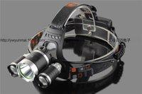 kafa lambası pille çalışıyor toptan satış-USB Güç Led Far Far 10000 lümen 3 * Cree xml t6 Şarj Edilebilir Kafa Lambası Torch 18650 Pil Avcılık Balıkçılık Işık