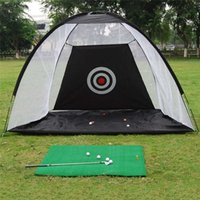 Wholesale Portable Golf Practice Net Foldable Golf Training Aids Indoor Outdoor Sport Training Hitting Net Swing Trainer Cage