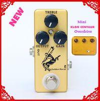 gitarreneffekt overdrive großhandel-Golden Horse Gitarre Effektpedal Overdrive / Boost-MINI KLON Centaur Klon und True Bypass