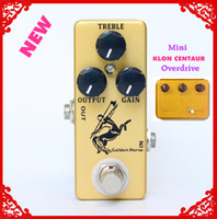 Wholesale boost for guitar for sale - Group buy Golden Horse Guitar Effect Pedal Overdrive Boost MINI KLON Centaur Clone and true bypass
