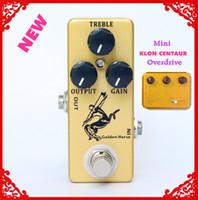 efectos de mini guitarra al por mayor-Pedal de efecto de guitarra Golden Horse Overdrive / Boost-MINI KLON Centaur Clone y bypass verdadero