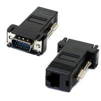 femme mâle lan extender achat en gros de-Nouveau VGA Extender Mâle Vers Lan Cat5 Cat5e RJ45 Ethernet Adaptateur Femelle Juillet 2007 # 2 Dropship