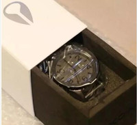relógios venda por atacado-2017 dos homens 51-30 relógio de quartzo a083-1062 chronon matte black dial pulseira de aço inoxidável caixa original do cronógrafo