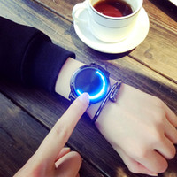 Wholesale touch screen digital watch new fashion for sale - Group buy New Creatival LED Sports Watches for Man Male Touch Screen Smart Breacelet Watches with Leather Brand Fashion Morden Wristwatches Gift