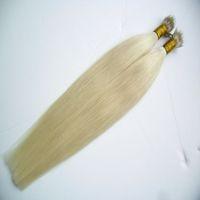 Discount nano ring 1g - Blonde Brazilian Hair Straight Micro Beads None Remy Nano Ring Links Human Hair Extensions 200g 1g s Platinum Blonde Virgin Hair