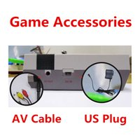 Wholesale Videos Host - NEW AC 100V-240V DC 5V 1A DC In US Plug AC DC Adapter AV Out AV Video Audio Game Cable Lines Good Working Fit For PXP3 PVP NES Games Host