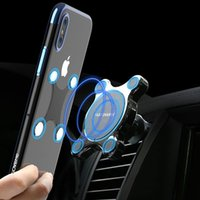 Wholesale floveme charger for sale – best FLOVEME Car Qi Wireless Charger For iPhone X Plus Fast Charger Magnetic Car Phone Holder For Samsung Galaxy S9 S8 Plus Note