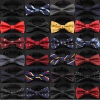 laço do arco da gota venda por atacado-Laço de natal moda masculina nó preto Bowtie negócio de moda gravata borboleta gravata formal para acessórios de transporte da gota