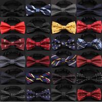 accesorios de pajarita al por mayor-Pajarita de navidad de los hombres de moda nudo negro Bowtie negocio de la boda pajarita de los hombres corbata formal para accesorios envío de la gota