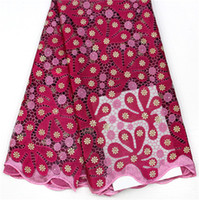 Wholesale Dry Laces - DOT1020 Embroidery Cotton Swiss Lace Fabric High Quality Cotton Swiss African Lace For Party With Stones Nigerian Dry Lace