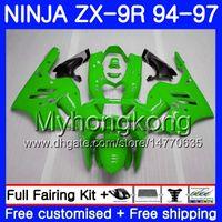 95 zx 9r verkleidungen großhandel-Gehäuse für KAWASAKI NINJA ZX900 ZX 9R 1994 1995 1996 1997 221HM.48 ALL Hellgrün ZX 9 R 900 900CC ZX-9R 94 97 ZX9R 94 95 96 97 Verkleidungsset