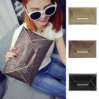 15d86c3a2fd Fashion Women Glitter Sequins Envelope Handbag Evening Party Clutch Bag  Wallet Purse Sparkling Makeup Bag 3 Colors NNA366