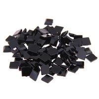 siyah elmas taklaları flatback toptan satış-Siyah renk Akrilik Rhinestones FlatBack Kare El Sanatları Scrapbooking DIY Elbise Nail Art Dekorasyon Için birçok boyutları