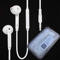 Wholesale best quality microphone for sale - Group buy Best quality S6 Earphone Headphone mm In Ear Earphones Headphones Headset With Mic With retail package For Samsung S6 S7 S8