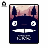 Wholesale Japanese Anime Fabrics - CHARMHOME My Neighbor Totoro Custom Super Soft Fleece Blankets Sofa Bed Kid Adult Warm Japanese Anime Throws Blanket