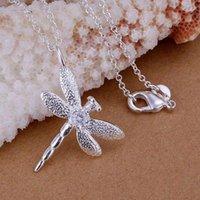 ingrosso catena della collana della libellula-Fine 925 Collana in argento sterling Collana 16