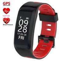 Wholesale Lovers Sleep - Heart Rate Smart Bracelet Blood Pressure Oxygen Monitor GPS Sports Tracker F4 Band Sleeping Reminder Wristwatch For IOS Android
