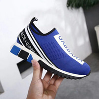Wholesale medium jersey - Newest Branded Women Sorrento Slip-on Sneakers Stretch Jersey Extra-light Rubber Two-tone micro sole Breathable Fabric Casual Shoes With Box