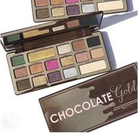 Wholesale Gold Bar Chocolate - New Arriva Too Famous Brand for Faced Chocolate Gold Bar Metallic Matte 16 Colors Eyeshadow Palette Limited Edition Free Shipping