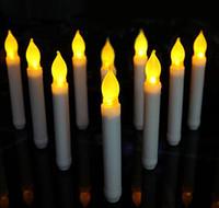 ingrosso candele di lampadine-Candela LED Candela LED Candele senza fiamma a batteria lunghe Candela elettronica lunga Natale Decorazione di San Valentino